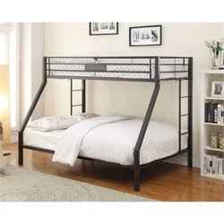 Acme Limbra Twin over Queen Bunk Bed in Gray