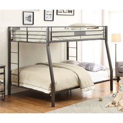 Acme Limbra Full over Queen Bunk Bed in Black Sand