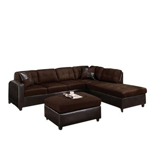 ACME Milano Faux Leather 2 Piece Sectional with ..