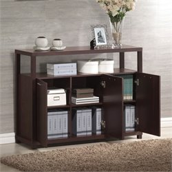 ACME Furniture Hill 3 Door Storage Cabinet in Espresso