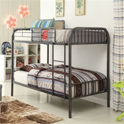 ACME Furniture Bristol Twin over Twin Bunk Bed in Gunmetal