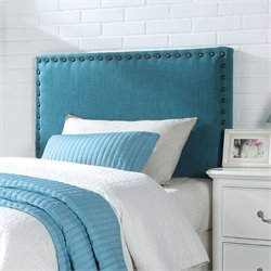 ACME Furniture Sabina Linen Queen and Full Headboard in Blue Linen
