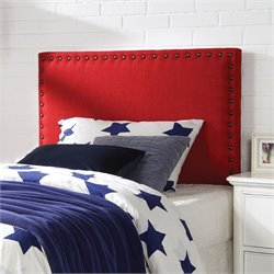 ACME Furniture Sabina Linen Queen and Full Headboard in Red