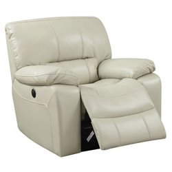 ACME Furniture Kimberly Leather-Aire Power Motion Recliner in Cream