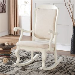 ACME Furniture Sharan Rocking Chair in Antique white