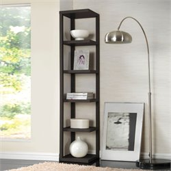 ACME Furniture Mileta 5 Shelf Bookcase in Cappuccino