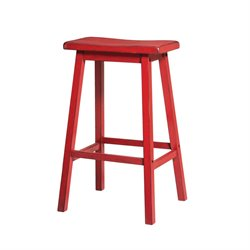 Gaucho Stool in Antique Red
