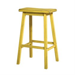Gaucho Stool in Antique Yellow