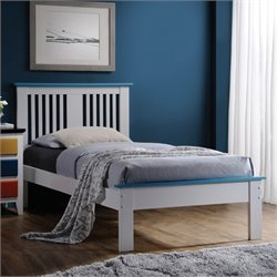 Brooklet Bed in White & Blue