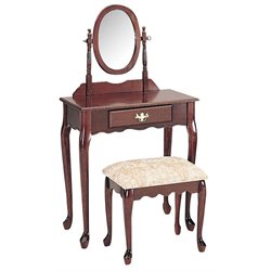ACME Furniture Queen Anne Vanity Set in Cherry
