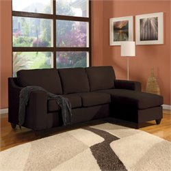 ACME Furniture Vogue Microfiber Sectional in Chocolate