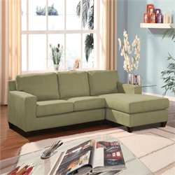 Acme Vogue Microfiber Sectional Sofa