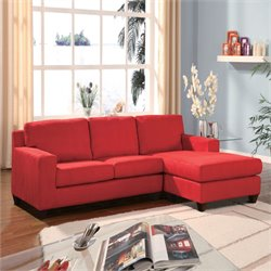 ACME Furniture Vogue Microfiber Sectional in Red
