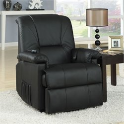 ACME Furniture Reseda Recliner with Power Lift and Massage in Black