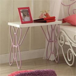 ACME Furniture Priya II Nightstand in White and Light PUrple