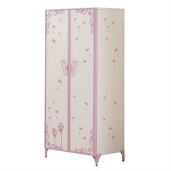 ACME Furniture Priya II Kids Wardrobe Armoire in White