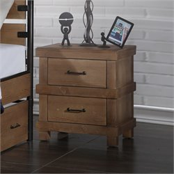 ACME Furniture Adams Nightstand in Antique Oak
