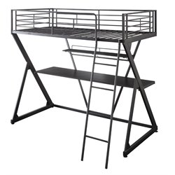 ACME Furniture Zazie Twin Loft Bed in Sandy Black