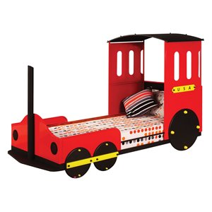 ACME Furniture Tobi Twin Bed in Red Train