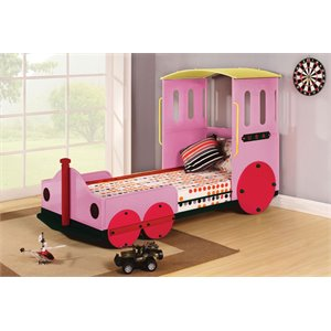 ACME Furniture Tobi Twin Bed in Pink Train