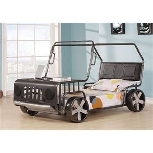 ACME Furniture Jerome Car Twin Bed in Silver