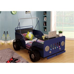 ACME Furniture Casper Car Twin Bed in Blue and Black