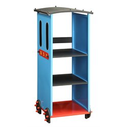ACME Furniture Tobi Train 3 Shelf Kids Bookcase in Blue