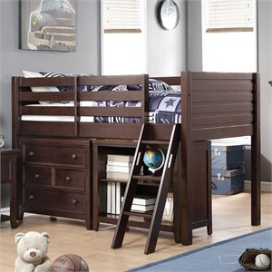 ACME Furniture Lacey Twin Loft Bed in Espresso