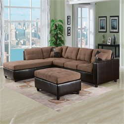 ACME Furniture Milano Reversible Easy Rider Sectional in Saddle