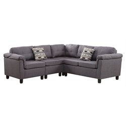 ACME Furniture Cleavon Reversible Linen Sectional in Gray