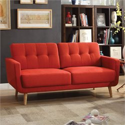 ACME Furniture Sisilla Linen Sofa in Red
