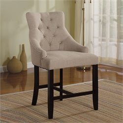 ACME Furniture Drogo Fabric Counter Stool in Cream (Set of 2)