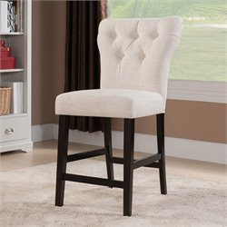ACME Furniture Effie Linen Counter Stool in Beige (Set of 2)
