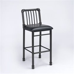 ACME Furniture Caitlin Bar Stool in Black and Black (Set of 2)