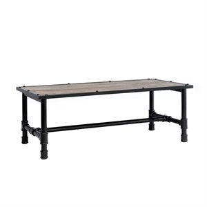 ACME Furniture Caitlin Coffee Table in Rustic Oak and Black