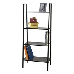 ACME Furniture Eason 4 Shelf Wide Bookcase in Black