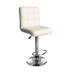 ACME Furniture Gaylord Swivel Adjustable Stool in Cream (Set of 2)