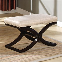 ACME Furniture Khloe Stool in Dark Cherry and Pearl
