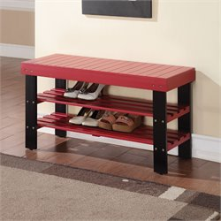 ACME Furniture Ramzi Bench in Red
