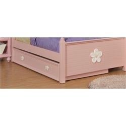 ACME Floresville Trundle in Pink and White