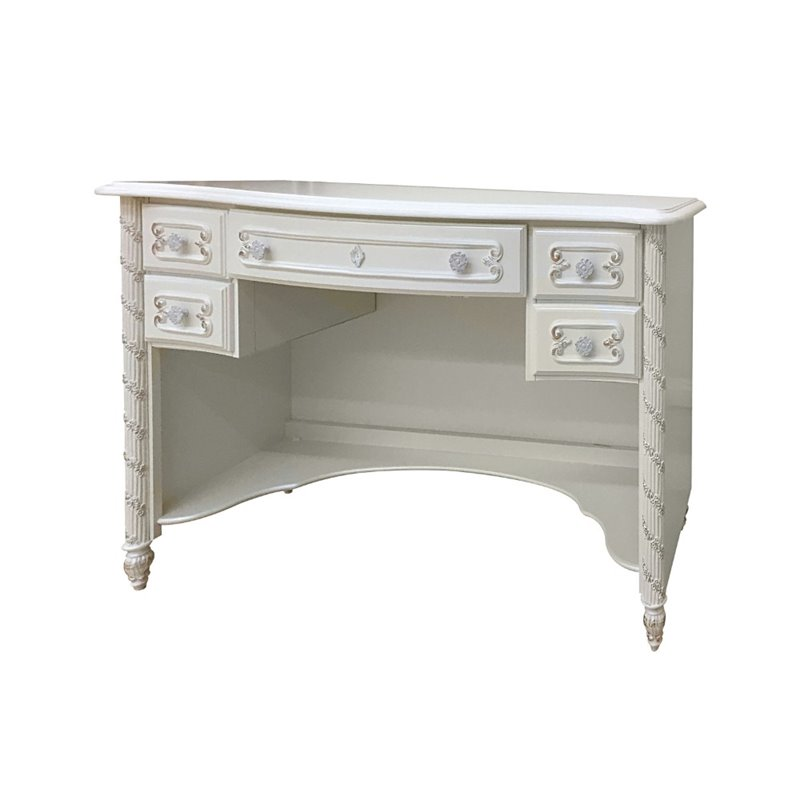 Acme Pearl Computer Desk In White And Gold