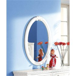 ACME Flora Oval Mirror in White