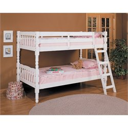 ACME Homestead Twin over Twin Bunk Bed in White
