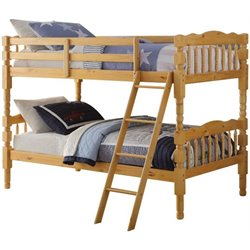 ACME Homestead Twin over Twin Bunk Bed in Natural
