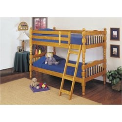 ACME Homestead Twin over Twin Bunk Bed in Honey Oak