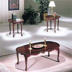 ACME Essex 3 Piece Coffee Table Set in Cherry
