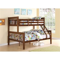 ACME Haley Twin over Full Bunk Bed in Walnut
