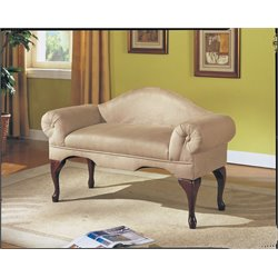 ACME Aston Bench with Rolled Arm in Beige