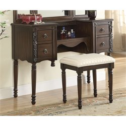 ACME Ashton Vanity Set in Oak
