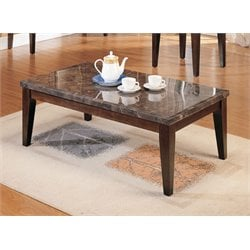 ACME Danville Coffee Table in Black and Walnut